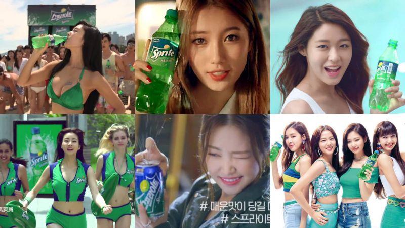韩国雪碧广告太会挑人了~这几代代言人你要Pick谁?