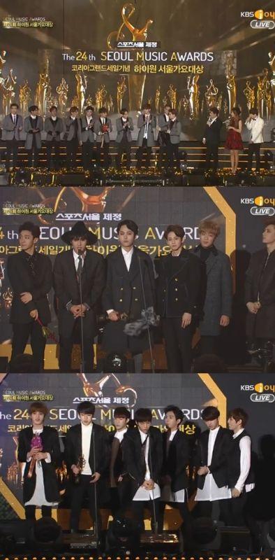 第24屆首爾歌謠大獎頒獎禮:EXO成最大贏家