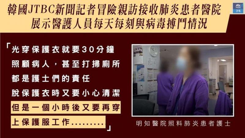 【韩国记者亲访肺炎患者医院,亲自展示医护人员与病毒搏斗情况】