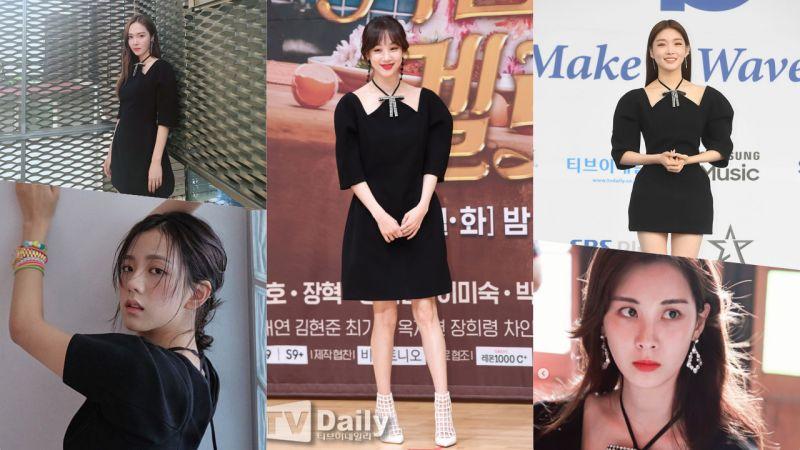 3个月这条小黑裙撞了6次!穿它的都是美女明星,不过谁更美呢?