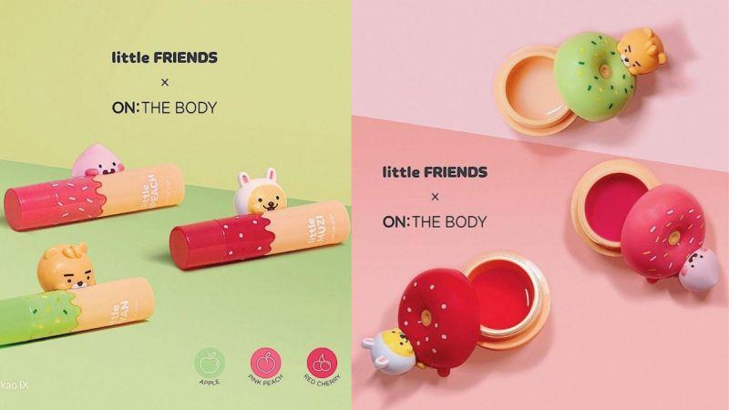 Kakao Friends又與護理品牌合作...推出聯名護唇膏!Ryan、Apeach和Muzi咬著唇膏的樣子太萌了!