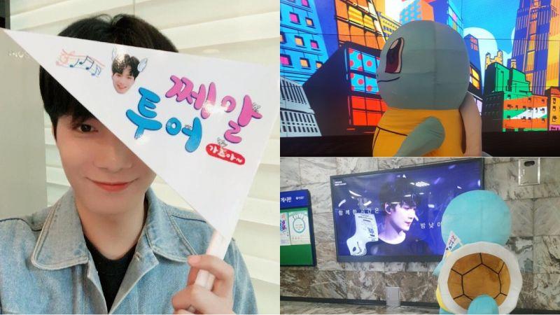 超可愛又暖心!JR穿著傑尼龜的人偶裝,到地鐵站認證粉絲送上的生日應援!