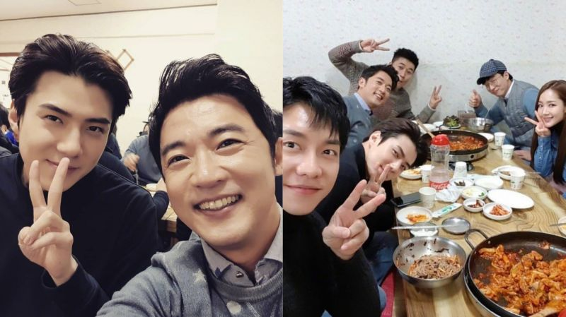 《Busted!明星來解謎》聚餐啦!劉在錫、李昇基、朴敏英、EXO世勳等人合影