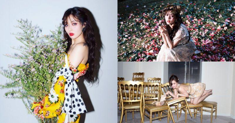 泫雅回归倒数一天⋯⋯〈Flower Shower〉MV 预告华丽抢眼!