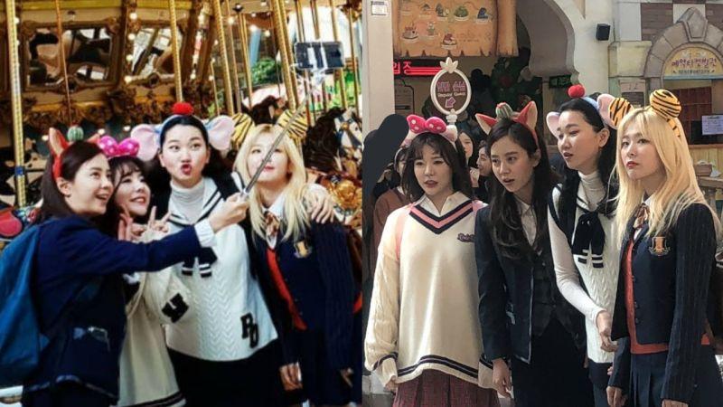 偶遇宋智孝、少时Sunny、Red Velvet瑟琪、张允珠在游乐场拍摄!