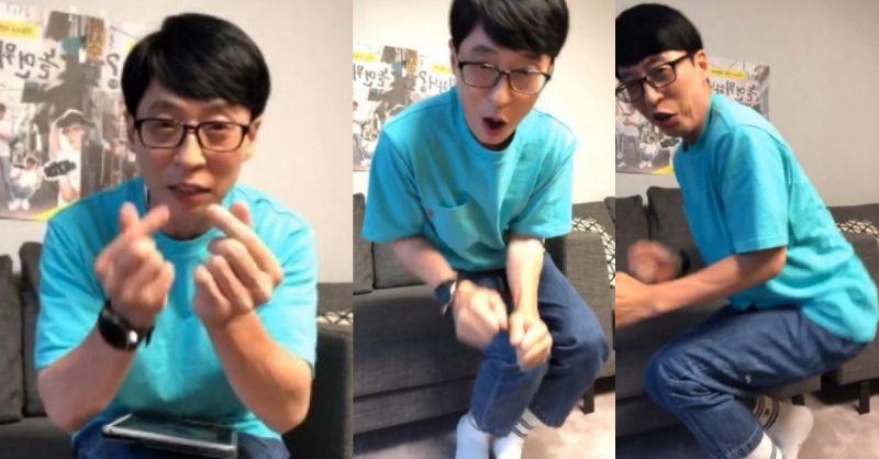 劉在錫直播收到100萬顆心心♥ 即興跳舞慶祝XD