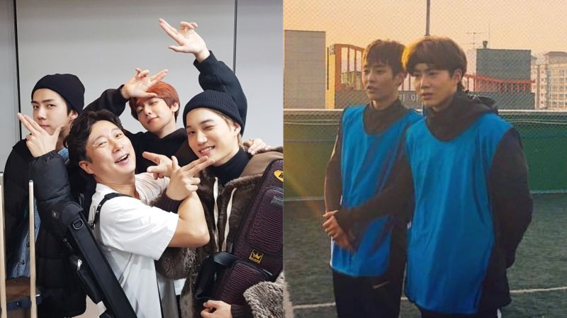 EXO陆续出演《李寿根频道》!伯贤、KAI、世勋的「撞球篇」将在26日播出 SUHO、XIUMIN则参与「足球篇」录制