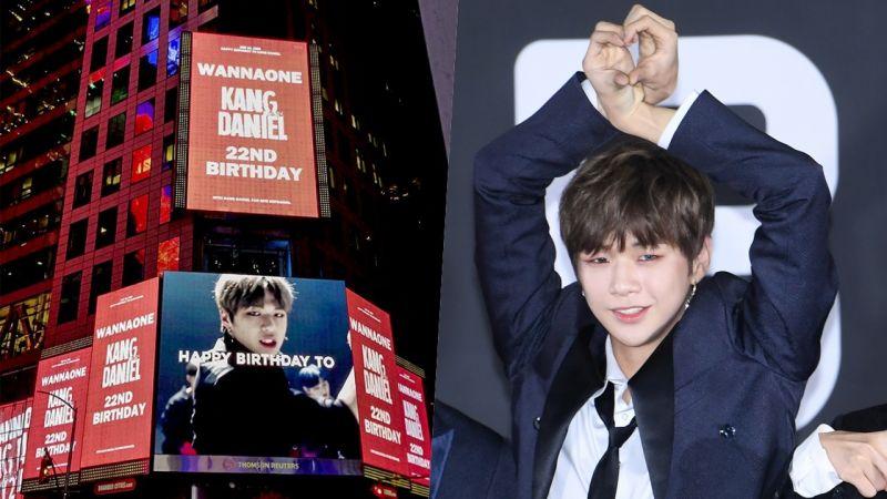 豪气!姜丹尼尔生日应援登上美国时代广场!韩国的地铁站、巴士应援也很给力!